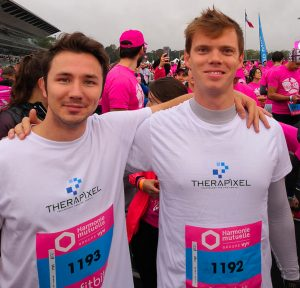 Therapixel participates in a race in honor of Breast Cancer awareness day