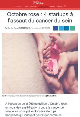 Octobre rose _ 4 startups à l'assaut du cancer du sein - Les Echos Start -Therapixel