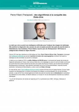 Pierre Fillard (Therapixel) _ des algorithmes à la conquête des Etats-Unis, Success Story 26-09-2019